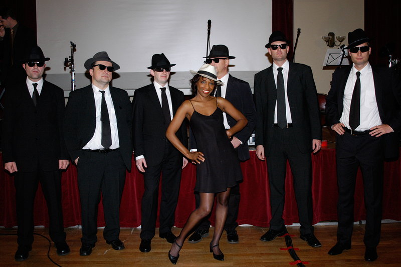 The Blues Brothers in Erlangen, Redoutensaal, minutes before a celebration and show that was produced by Willetta for the University of Erlangen; an evening with several hundred guests and VIPs from universities and corporations