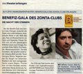 Erlanger Nachrichten newspaper announces Night of the Voices benefit gala by the Zonta club with national artists, chanson, opera and jazz singers performing in the 611 seat Markgrafenthater opera house in Erlangen